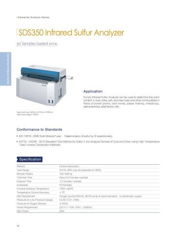 SDS350 sulfur analyzer