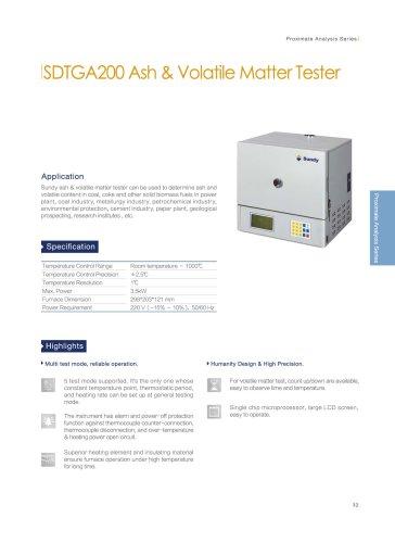 SDTGA200 ash&volatile matter tester