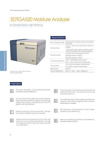 SDTGA520 moisture analyzer