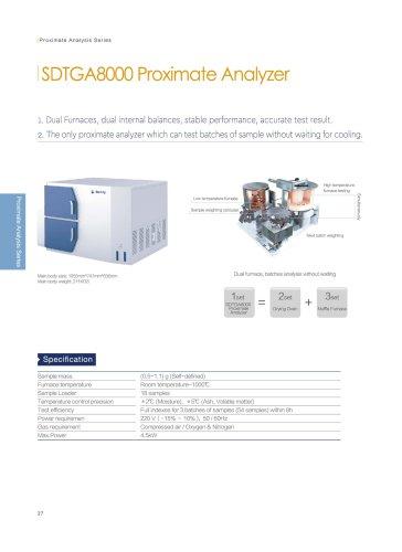 SDTGA8000 proximate analyzer