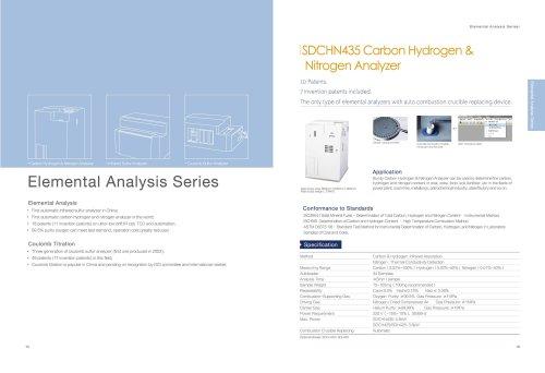 SUNDY / SDCHN435 elemental analyzer catalogue for carbon hydrogen nitrogen analysis