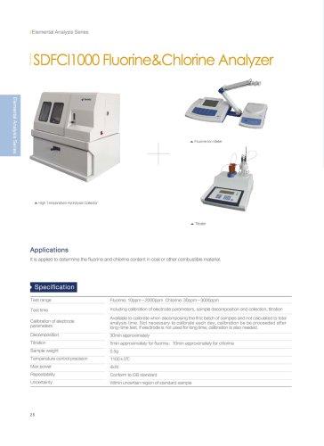 SUNDY SDFCl1000 Fluorine & Chlorine analyzer