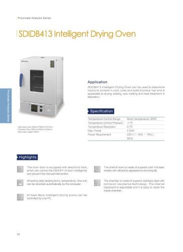 SUNDY SDIDB413 intelligent drying oven