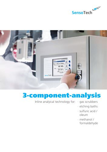Inline analyical technology for gas scrubbers, etching baths, sulfuric acid / oleum, methanol / formaldehyde
