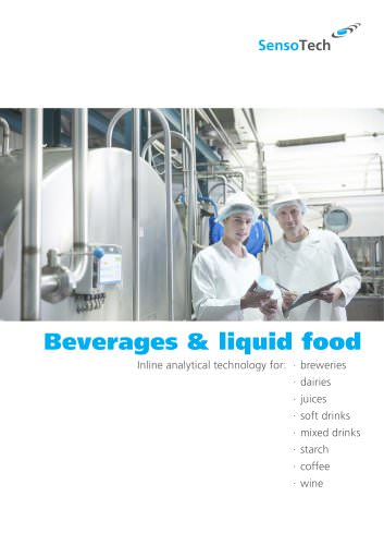 Inline analytical technology for beverages and liquid food: breweries, dairies, juices, soft & mix drinks, starch, coffee and wine