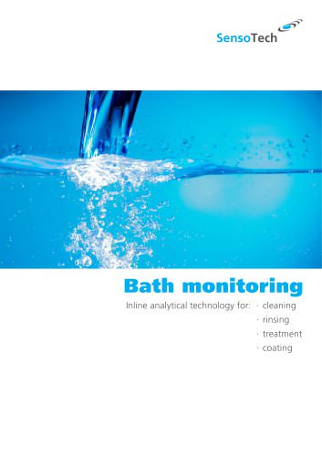Inline analytical technology for cleaning, rinsing, treating and coating baths of industrial parts and surfaces