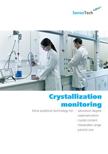 Inline analytical technology for crystallization monitoring: saturation degree, supersaturation, crystal content, metastable range and particle size