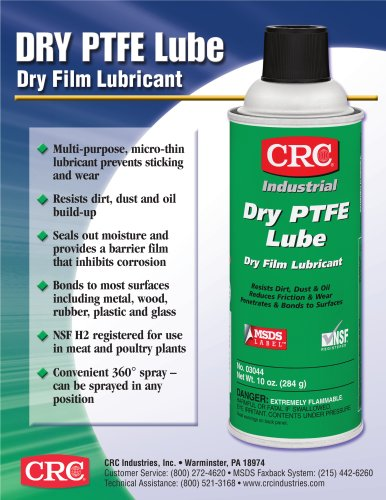 Dry PTFE Lube Sell Sheet