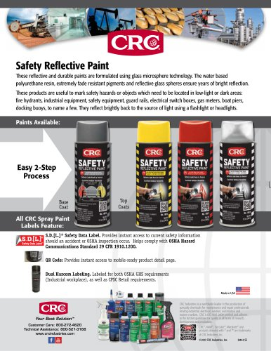 Safety Reflective Paint