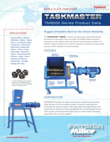 TM8500 Series Product Data