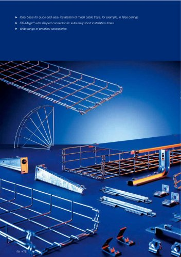 Mesh cable tray systems