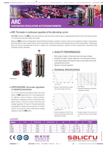 Product datasheet: ARC and NS series