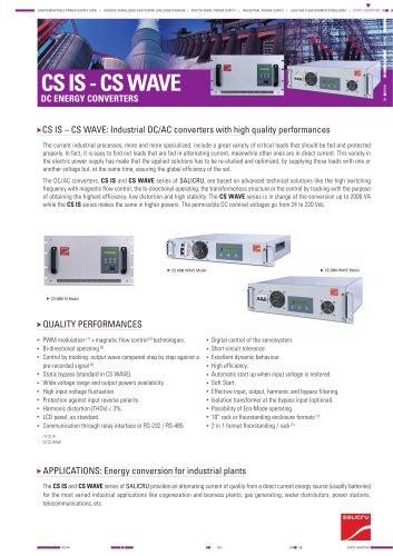 Product datasheet: CS IS - CS WAVE Series