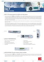 Product Datasheet: FAC P Series - 1