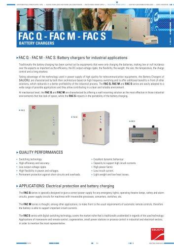 Product datasheet: FAC Q,M,S Series