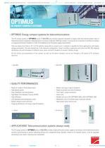 Product Datasheet: OPTIMUS Series - 1