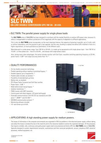 Product Datasheet: SLC TWIN Series