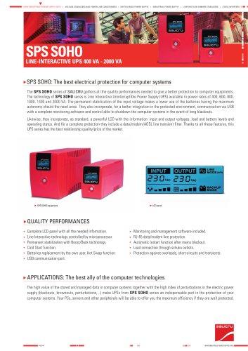 Product Datasheet: SPS SOHO Series