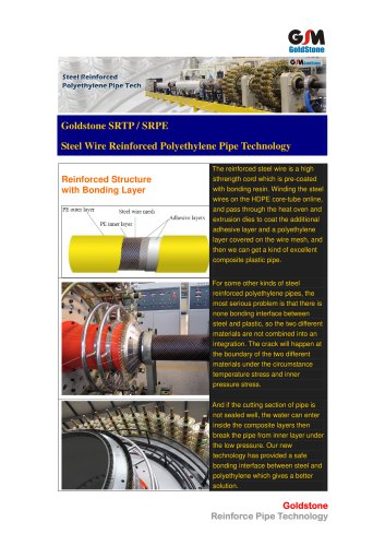 Goldstone Reinforced Polyethylene Pipe Extrusion Line SRTP for Water Supply 02