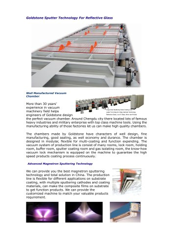 Goldstone Vacuum Coating Machine for Glass