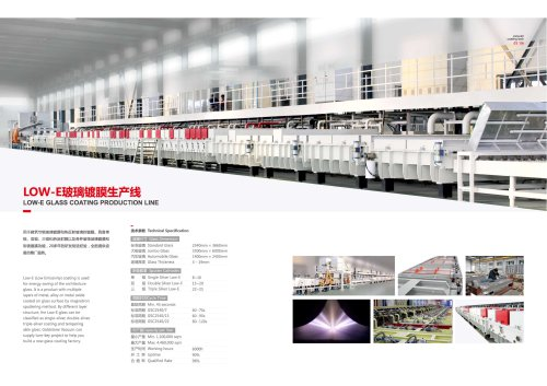 Low E Glass Coating Production Line