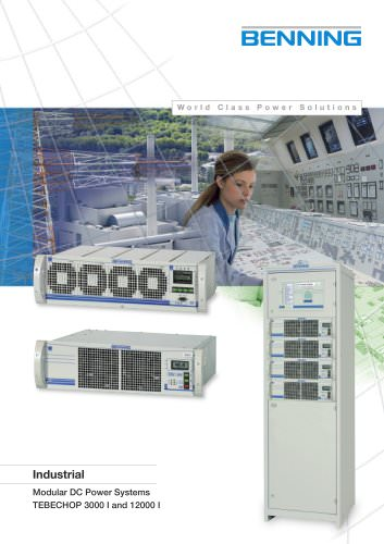 Modular DC Power Systems Tebechop 3000 I and 12000 I