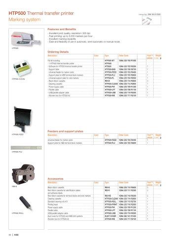HTP500 Thermal transfer printer