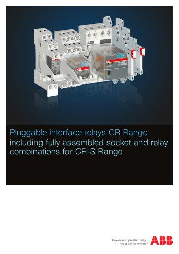 Pluggable interface relays CR Range