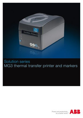 Solution series-MG3 thermal transfer printer and markers