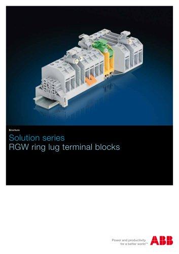 Solution series-RGW ring lug terminal blocks