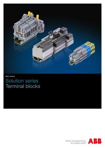 Solution series Terminal blocks