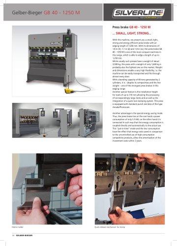 Press Brake GB-40 1250 Manual