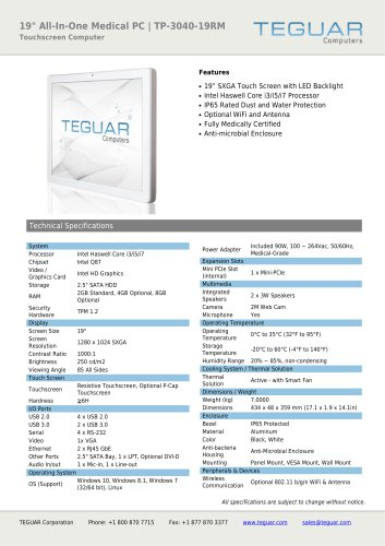 """19"""" ALL-IN-ONE MEDICAL PC 