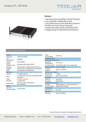 FANLESS PC | TB-2030