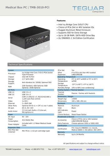 MEDICAL BOX PC | TMB-3010-PCI