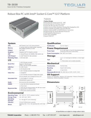 TB-3030 | FANLESS PC