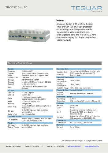 TB-3052 BOX PC