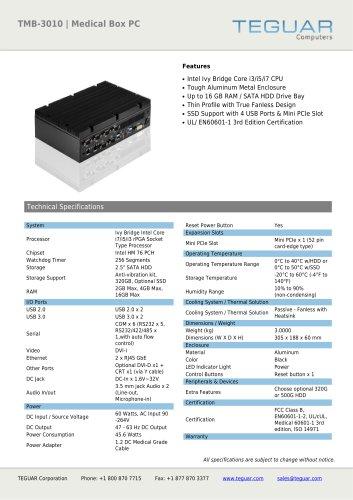 TMB-3010 | MEDICAL BOX PC