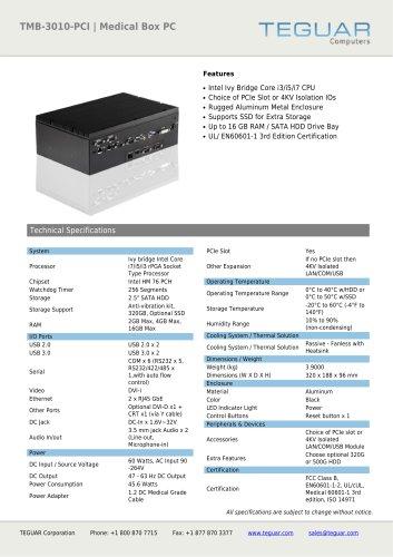 TMB-3010-PCI | MEDICAL BOX PC