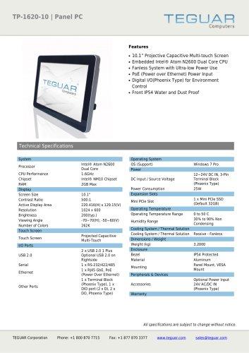 TP-1620-10 | PANEL PC