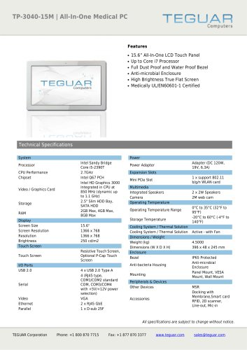 TP-3040-15M | ALL-IN-ONE MEDICAL PC