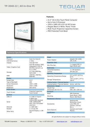 TP-3040-22 | ALL-IN-ONE PC