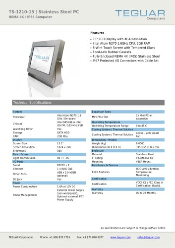 TS-1210-15 | STAINLESS STEEL PC