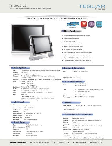TS-3010-19 | STAINLESS STEEL COMPUTER