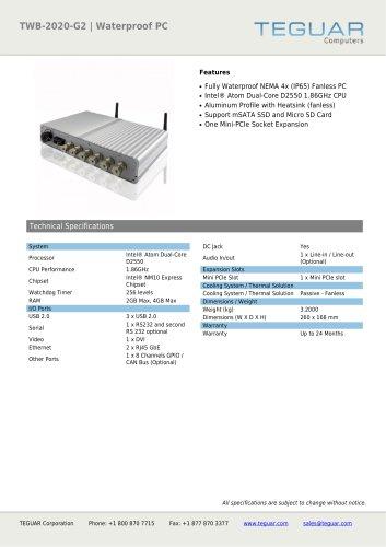 TWB-2020-G2 | WATERPROOF PC