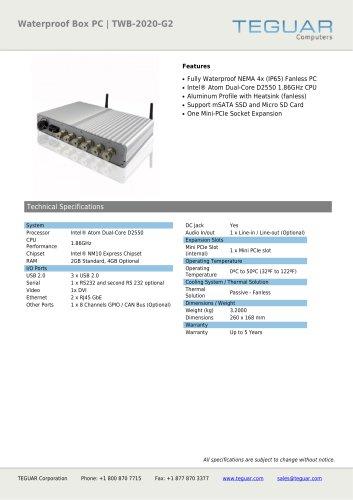 WATERPROOF BOX PC | TWB-2020-G2