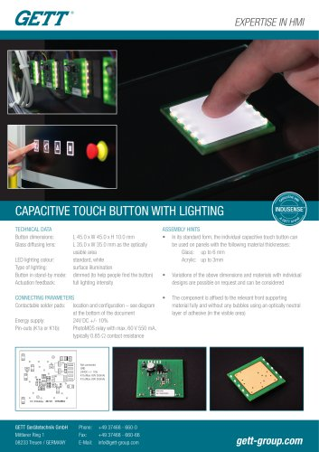 Flyer Capacitive Touch Button