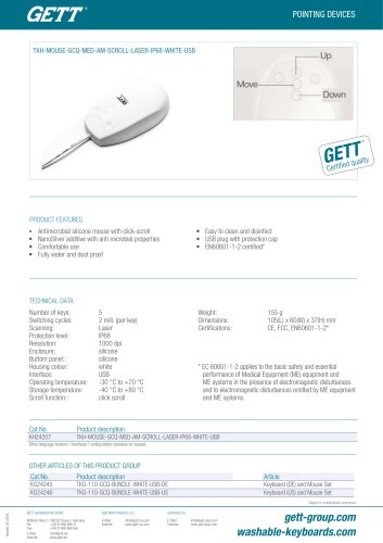 TKH-MOUSE-GCQ-MED-AM-SCROLL-LASER-IP68-WHITE-USB