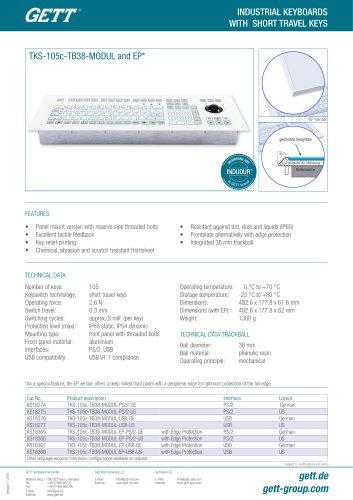 TKS-105c-TB38-MODUL and EP*