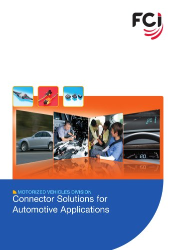 Connector Solutions for Automotive Applications Catalog